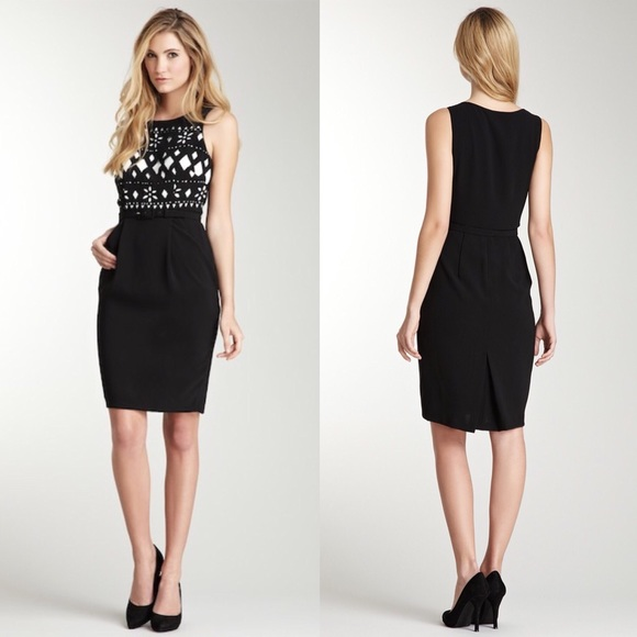 366b6f17b08c Eva franco cato Black Floral dress Size 10 NEW